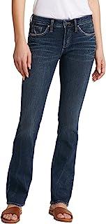 Silver Jeans Co. 女式 Avery 曲线修身高腰修身靴牛仔裤