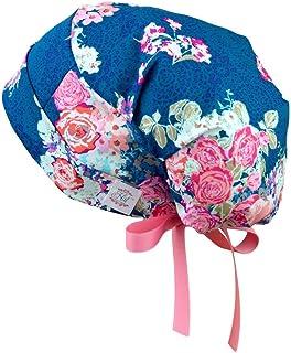 S - M 码女士*磨砂帽丝带领带*帽(茶花园)