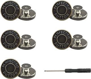 牛仔裤纽扣别针,无接缝和无工具即时牛仔裤纽扣别针,适用于裤子,10 套替换按钮,安装简单(款式 3)
