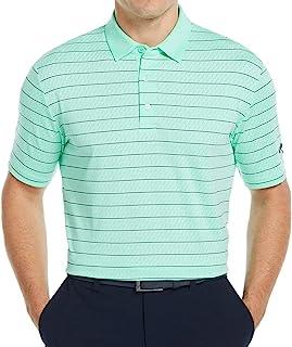 Callaway 男士 Swing Tech Opti Dri 透气条纹短袖高尔夫 Polo 衫