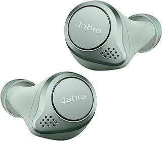Jabra 完全无线 耳机 Elite Active 75tAlexa适用 bluetooth 5.0 防尘防滴 IP57 北欧设计 国内正品100-99091002-40-A  L 21.9 x W 19.4 x H 16.2mm