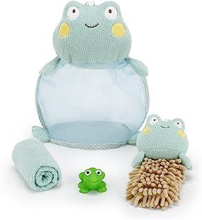 Demdaco Baby 4 件套沐浴礼品套装 青蛙 13 x 13