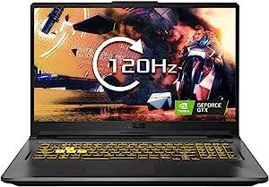 ASUS 华硕 TUF FA706IU 17.3 英寸全高清 120Hz 薄边框游戏笔记本电脑(AMD Ryzen 7 4800H,Nvidia GeForce GTX 1660Ti 6GB 显卡,1TB PCI-e SSD,16 GB RAM,Windows 10),堡垒灰