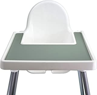 Little Bloom Co. 宜家 Antilop 婴儿高脚椅硅胶餐垫 | 宜家高脚椅配件 | 婴幼儿硅胶餐垫 | 高脚椅盖餐垫 | 不含双酚 A (沙漠鼠尾草)