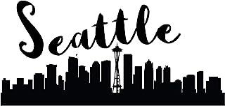 "4 All Times 西雅图汽车贴花,适用于汽车、卡车、笔记本电脑 8.0""W x 3.9""H 4ATAD598"