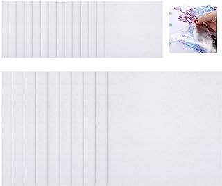 24 件透明转印纸带 15.24 x 15.24 cm 和 30.48 x 30.48 cm 透明乙烯基转印纸 适用于标志贴纸 贴花 墙壁 门 窗户 工艺切割机