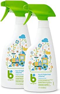 BabyGanics 甘尼克宝贝 玩具和高脚椅清洁剂喷雾,包装可能有所不同,17盎司/502ml,2件装