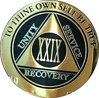 Recovery ychip 29 Year AA *章优雅黑金银双镀*精匿名筹码