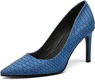 Jimishow 女士尖头高跟鞋 3.5 英寸/8.9 厘米性感细高跟鞋