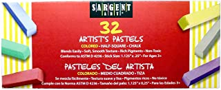 Sargent Art 22-4101 彩色半方形粉笔粉笔,32 支