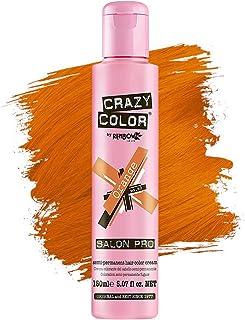 Crazy Color *剂 - 纯素和无残忍的半永久*剂 - 用于预亮或金发的临时* - 无需过氧化物或显影剂(橙色)