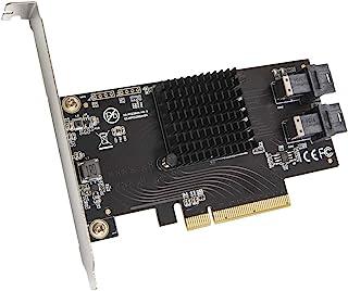 IO CREST U.2 端口至 PCIe 3.0 x8 双歧立管控制器 SFF-8643 至 SFF-8639 电缆包括 (SI-PEX40151)