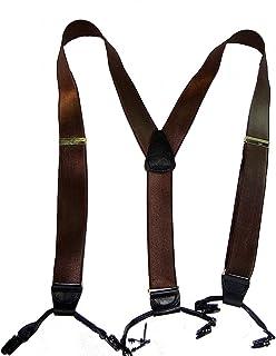 正装巧克力棕色缎面加长式吊带