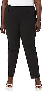 SLIM-SATION 女式加大码套穿纯色针织宽松窄腿裤