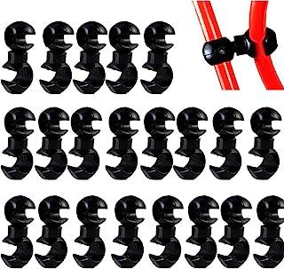 20 件自行车电缆夹塑料自行车电缆夹 旋转 S 型钩夹 自行车 MTB 制动齿轮外壳固定支架指南 S 型皮带扣夹