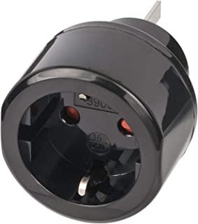 Brennenstuhl 百能斯图 旅行插头插座适配器 适用于澳大利亚 中国的插座和接地插头 黑色