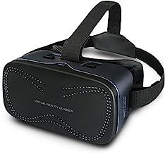 3D VR 眼镜,STORM XMEN 虚拟现实耳机带防蓝色膜适用于 3D 电影游戏可调护目镜,适用于 iOS Android 智能手机MG-004 3D VR Headset 黑色 -1