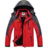 男式冬季外套山地滑雪夹克保暖雪夹克防水防风雨夹克徒步露营外套
