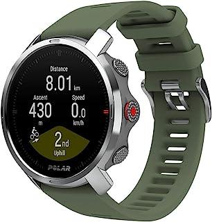 Polar 坚固户外GPS手表指南针 高度计 徒步旅行 跟踪 绿色,M-L