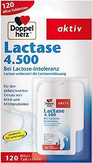Doppelherz 乳糖酶4500 膳食营养补充剂 适用于乳糖不耐 实用按压盒装 1 x 120片