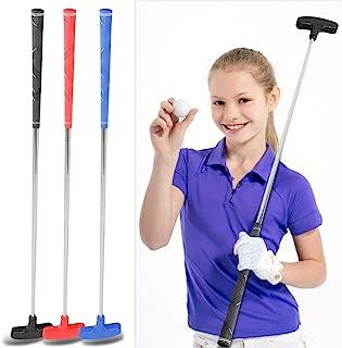 Tbest Golf Putters 儿童青少年不锈钢高尔夫球杆推杆 31 英寸(约 78.7 厘米)迷你橡胶头高尔夫推杆 适合 3-5 岁 6-8 岁 9-12 岁儿童