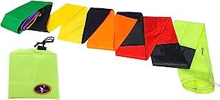 emma 风筝 21 英尺(约 5.4 米)风筝管尾 黑色彩虹彩色长风筝 洗衣风筝 单线风筝 特技牵引风筝配件 户外游戏露营装饰