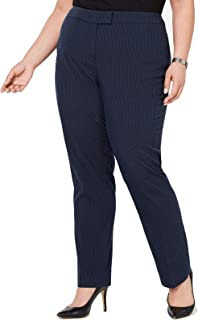 Anne Klein 女士加大码泡泡纱修身长裤