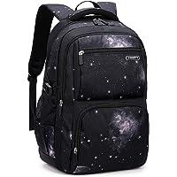 VIDOSCLA 星空儿童书包小学生书包小学日背包青少年款 仅黑色背包 Backpack Only