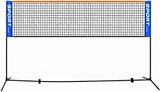 羽毛球网 14英尺(约40.6米)便携式沙滩排球网,儿童户外网球网,足球网,匹克球网,可调节高度34至61英寸(约86.4至154.9厘米),户外/室内庭院、后院运动网