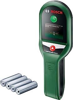 Bosch 博世 UniversalDetect 墙壁探测器(用于检测深度为100/50/25mm的金属,带电电线和内置木质结构; 含4节1.5V电池)