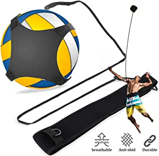 排球训练设备辅助,单演练习轻松设置尖头,手臂挥杆,足球踢球训练器礼品,带可调节松紧绳带,适合成人儿童初学者和专业人士