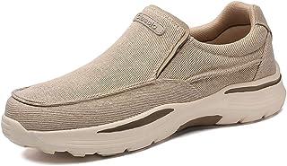 SNEKARMIN 乐福鞋男式一脚蹬步行鞋运动鞋舒适驾驶鞋男式春季透气宽男式帆布鞋