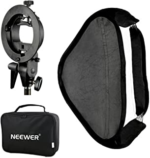 Neewer S型闪光灯支架+60*60厘米易折便携式柔光箱 配便携包 摄影闪光灯配件