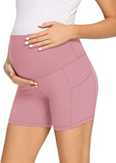AMPOSH 女式孕妇瑜伽短裤高腰裸体感觉健身运动跑步短裤打底裤 - 12.7 厘米