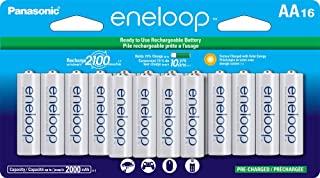 Panasonic 松下电器 BK-3MCCA16FA eneloop AA 2100循环镍氢预充电充电电池,(包装包括16个AA蓝色或16个AA白色)