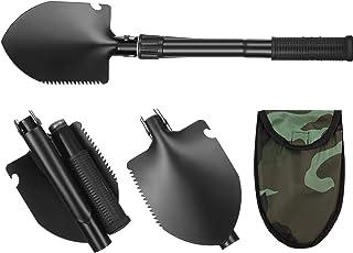 Honoson 可折叠野营铲 16.14 英寸挖掘工具 碳钢战术铲 适用于露营、背包、钓鱼、园艺、挖沟