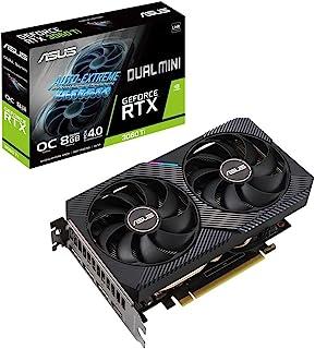 ASUS DUAL NVIDIA GeForce RTX 3060 Ti 显卡 OC / PCIe 4.0 / 8GB GDDR6 / HDMI 2.1 / DisplayPort 1.4a / 2 插槽设计 / Axial-tech风扇设计...