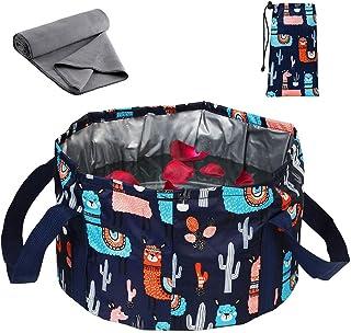 26L 可折叠足浸泡浴盆袋,带吸水毛巾,折叠足浴浴缸浸泡脚桶,适合旅行露营