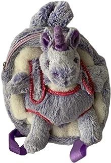 毛绒动物背包和毛绒玩具(紫色独角兽)