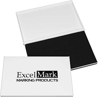 ExcelMark 橡胶印章印台超大 4-1/4 x 7-1/4 英寸 黑色