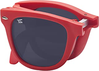 Foldies 经典偏光折叠太阳镜带高级清洁布和皮革保护套