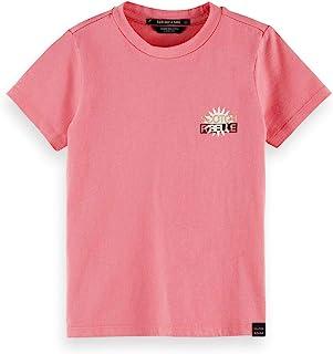 Scotch & Soda 女孩短袖标志性标志 T 恤