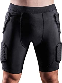 男士加垫压缩裤保护器适用于足球棒球足球篮球自行车橄榄球彩弹射击滑雪排球训练