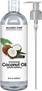 Majestic 纯分效椰子油,适用于芳香*放松按摩油、保湿精油、*和皮肤护理优势、保湿霜和软化剂 - 473.12 毫升。