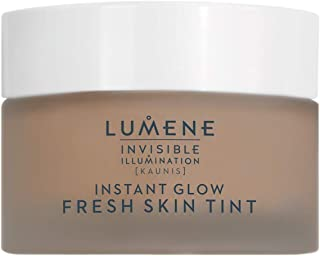 Lumene 隐形照明 [Kaunis] 即时发光清新肌肤色彩,通用深,1.0 液体盎司,有色保湿,清新凝胶质地