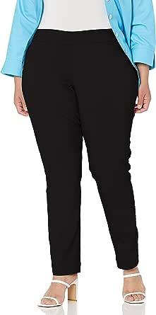 SLIM-SATION 女式加大码套穿直筒裤