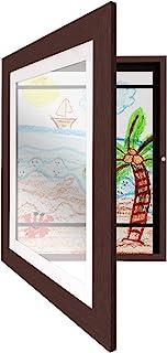 Americanflat 儿童艺术画画框带防碎玻璃 - 展示艺术品 尺寸 21.59x27.94 cm 带垫子 25.40x31.75 cm 无垫子 桃木色 8541869630