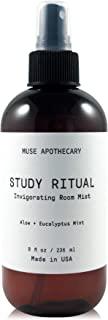 Muse Bath Apothecary Study Ritual - 香薰和活力房间喷雾,8 盎司(约 226.8 克),注入天然精油 - 芦荟 + 桉树薄荷