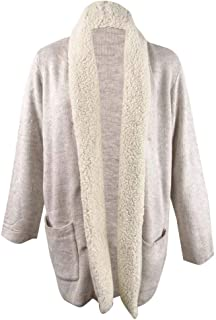 Style & Co. 女式加大码夏尔巴领开衫(3X,吊床混色组合)