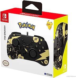 HORI 任天堂 Switch HORIPAD Mini(黑色和金色皮卡丘版) - Nintendo & Pokémon 官方*